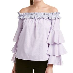 Romeo & Juliet ruffle sleeve off shoulder top